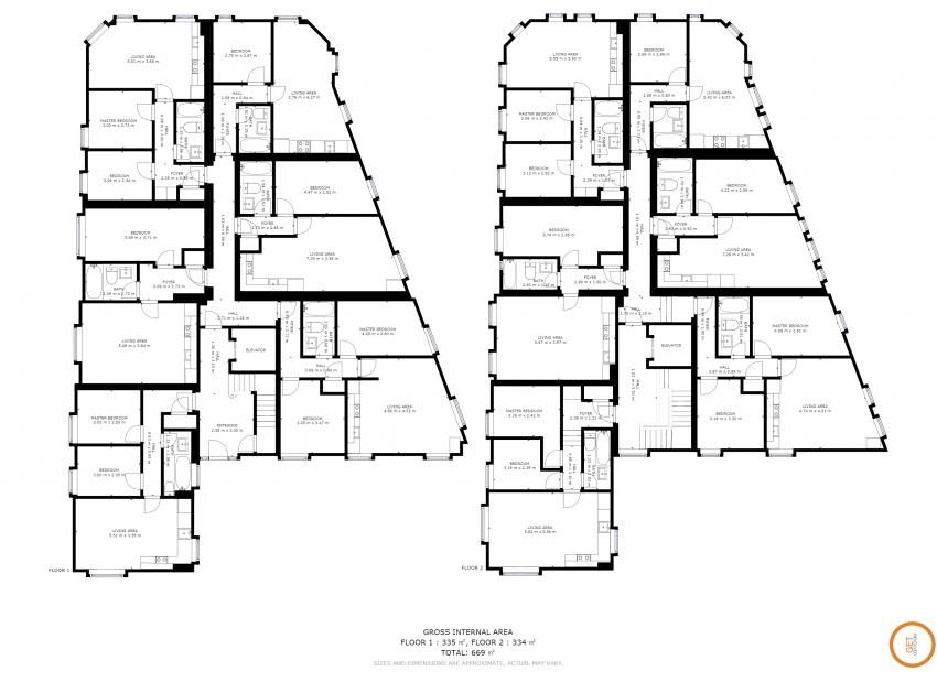 3D virtual tour schematic floor plan